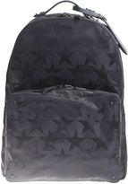 Valentino Garavani Black Jaquard Nylon Backpack