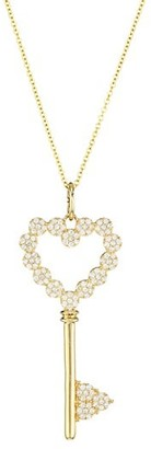 Nina Gilin 14K Yellow Gold & Diamond Heart Key Pendant Necklace