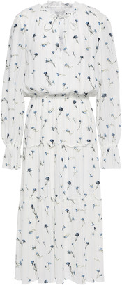 Joie Printed Crepe Midi Dress