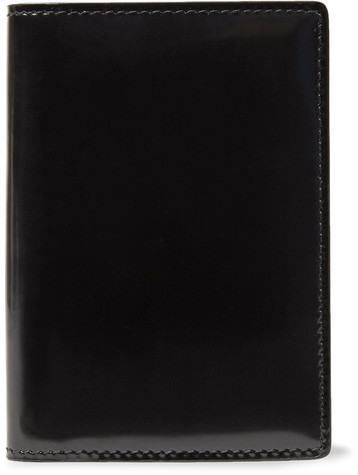 Common Projects Patent-leather Bifold Cardholder - Black