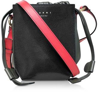 Marni Color Block Leather Shoulder Bag