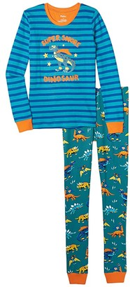Hatley Superhero Dinos Applique PJ Set (Toddler/Little Kids/Big Kids) (Blue) Boy's Pajama Sets
