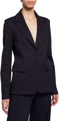 Rosetta Getty Fitted Wool Crepe Jacket