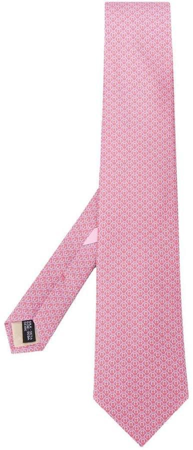Salvatore Ferragamo Gancini pointed tip tie