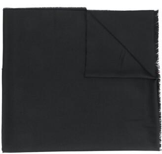 Alexander McQueen branded trim frayed scarf