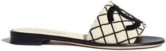 Chanel Flat Beaded Cc Slide