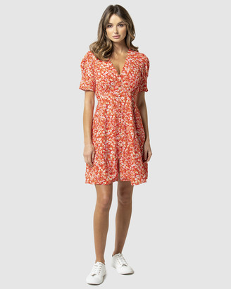 Forever New Saffron Printed Mini Day Dress