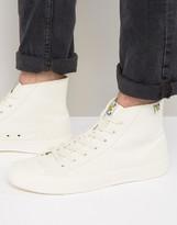 Lyle & Scott Hi Top Sneaker in White
