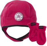 Converse fleece hat & mittens set - toddler