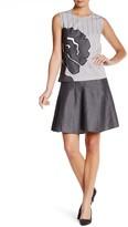 Vivienne Tam Flare Linen Wool Blend Skirt