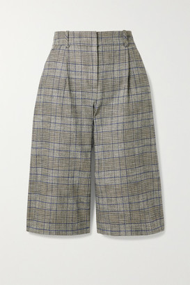 Veronica Beard Fernanda Checked Tweed Culottes - Gray