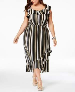 Monteau Trendy Plus Size Ruffled High-Low Dress