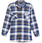 Burnside Blue Jose Plaid Flannel Button-Up - Boys
