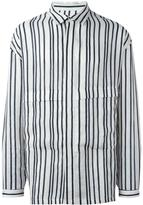 E. Tautz Parker striped shirt - men - Linen/Flax - XS