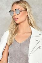 Nasty Gal nastygal Out of Sight Round Shades