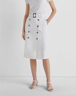 Club Monaco Belted Pencil Skirt