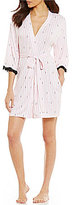 Betsey Johnson Hugs & Kisses Striped Wrap Robe