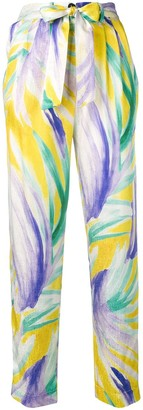 Forte Forte printed high waisted trousers