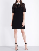 The Kooples Contrast collar lace and crepe dress