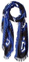 Theodora & Callum Women's Squaw Valley Gypsy Fringe Scarf, Blue Multi