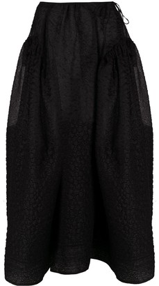 Cecilie Bahnsen Quilt Embroidery Puff Skirt