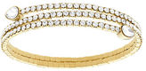 Swarovski Goldtone and Crystal Twisted Bangle Bracelet