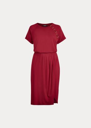 Ralph Lauren Lace-Up Jersey Dress