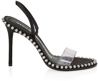 Alexander Wang Nova Crystal PCV Slingback Sandals