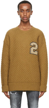 DSQUARED2 Brown Wool Sweater
