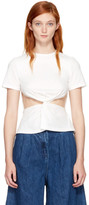 Edit White Front Knot T-shirt