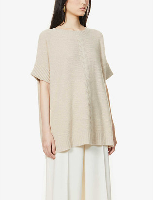 Max Mara Sicilia short-sleeved cashmere jumper