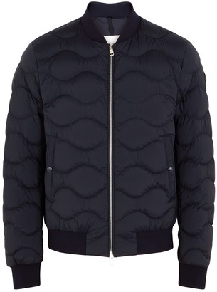 Moncler Borely navy quilted shell bomber jacket