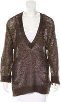 L'Agence Open-Knit Oversize Sweater
