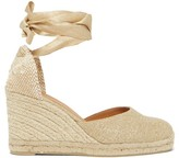 Castaner Carina 80 Canvas And Jute Espadrille Wedges - Womens - Gold