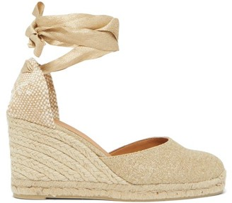 Castaner Carina 80 Canvas And Jute Espadrille Wedges - Gold