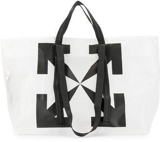 Off-White Arrows grid-print tote bag