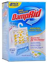 DampRid Hanging Moisture Absorber Fresh Scent - 4 (16 oz/454g) Packs (1, 9 IN)