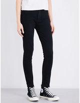 RE/DONE Frayed-hem high-rise straight leg jeans