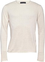 Jack and Jones Mens Linen Crew Neck Jumper Jet Stream