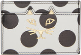 Charlotte Olympia White Polka Dot Feline Card Holder