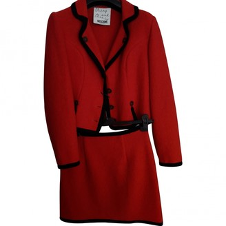 Moschino Cheap & Chic Moschino Cheap And Chic Red Wool Dress for Women Vintage