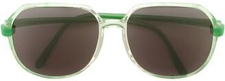 Krizia Pre-Owned Round Frame Sunglasses