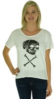 Denim & Supply Ralph Lauren Women's Skull Graphic T Shirt [L] [ Black]