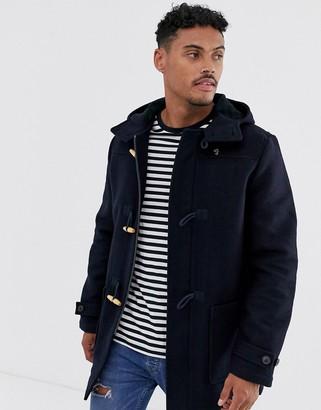 Farah Poppleton wool duffle coat in navy