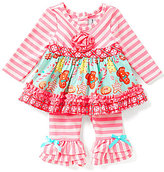 Rare Editions Baby Girls 3-24 Months Holiday Gingerbread Top and Pants Set