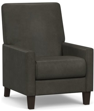 Pottery Barn Barkley Square Arm Leather Armchair