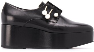 Coliac Platform Loafers With Pearl Detail