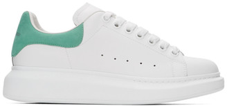 Alexander McQueen SSENSE Exclusive White and Green Oversized Sneakers