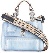 Ermanno Scervino denim shoulder bag - women - Cotton/Leather/Straw/metal - One Size