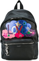 Saint Laurent Love patchwork backpack